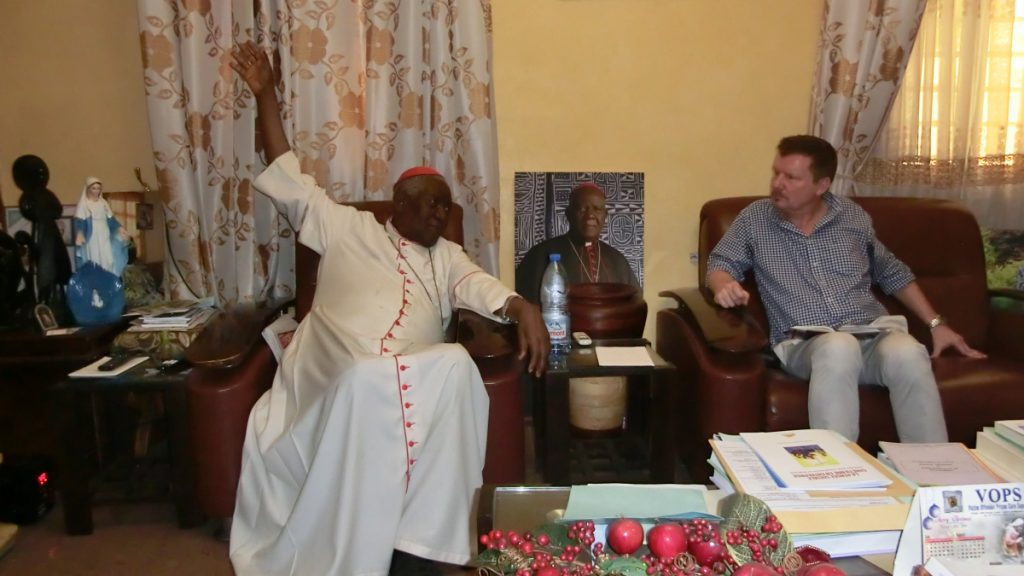 Frank Wiegand im Gespräch mit Kardinal