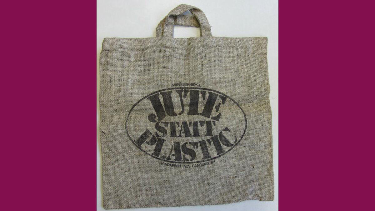 "1975 prägte MISEREOR im Rahmen einer Jugendaktion das Motto ""Jute statt Plastik"" © MISEREOR"