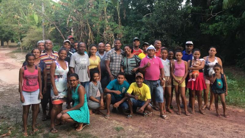 Caritasleiterin Lucineth C. Machado und Walter dos Santos (Fotomitte) ©Anna Moser I MISEREOR