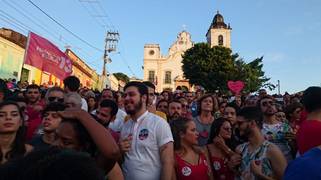 Protestveranstaltung in Olinda, Pernambuco, am 21.10.2018: Für Demokratie und Frieden © Claudia Fix