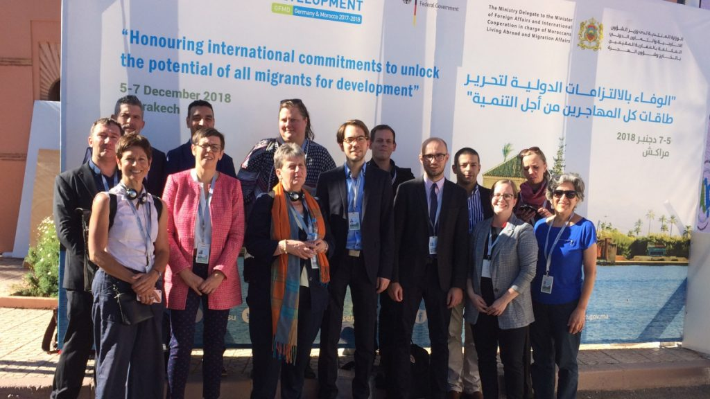 ertreter deutscher Zivilgesellschaft in Marrakesch