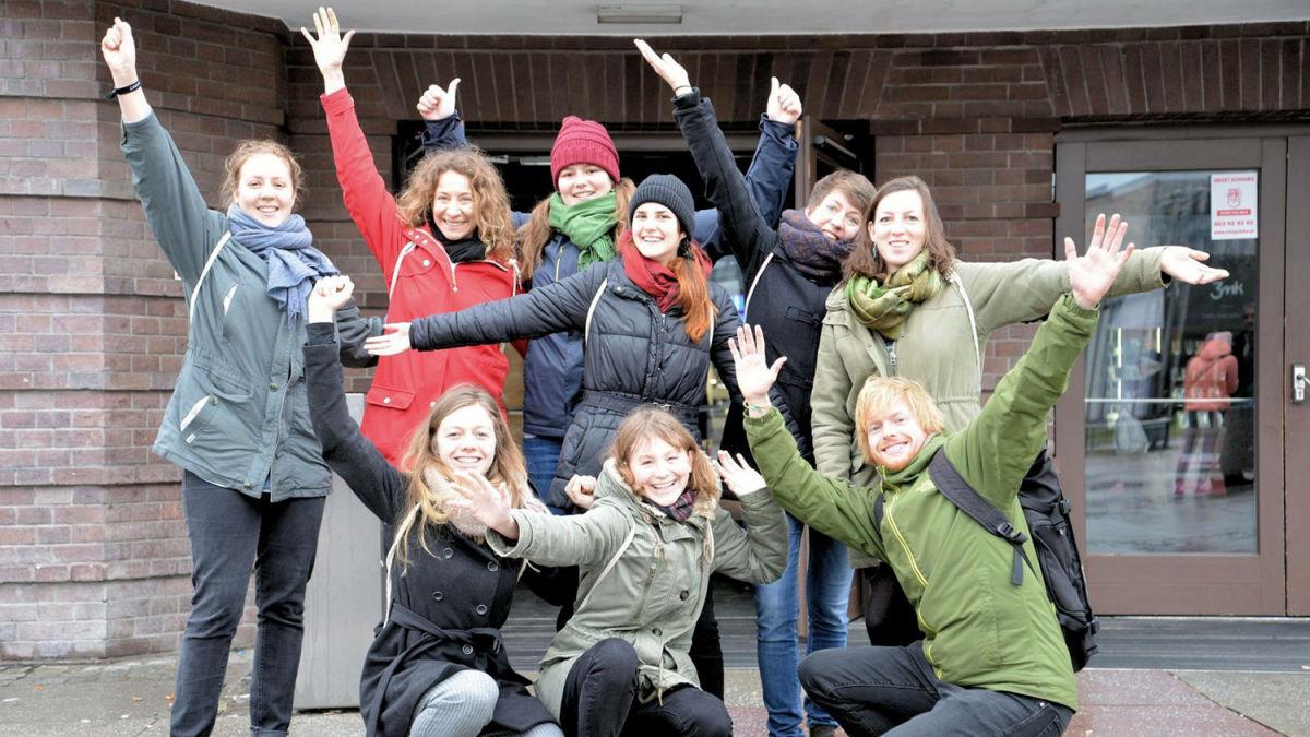 Gruppenbild der MISEREOR-Freiwilligen