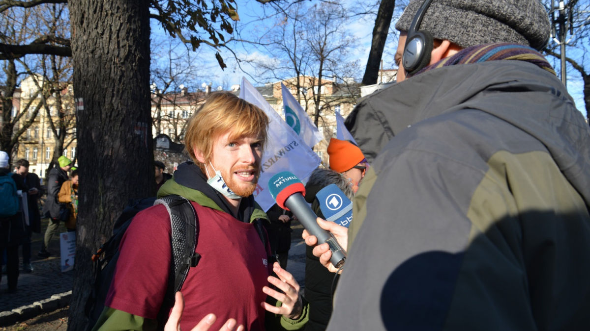 Interview mit Demonstrant auf der COP24