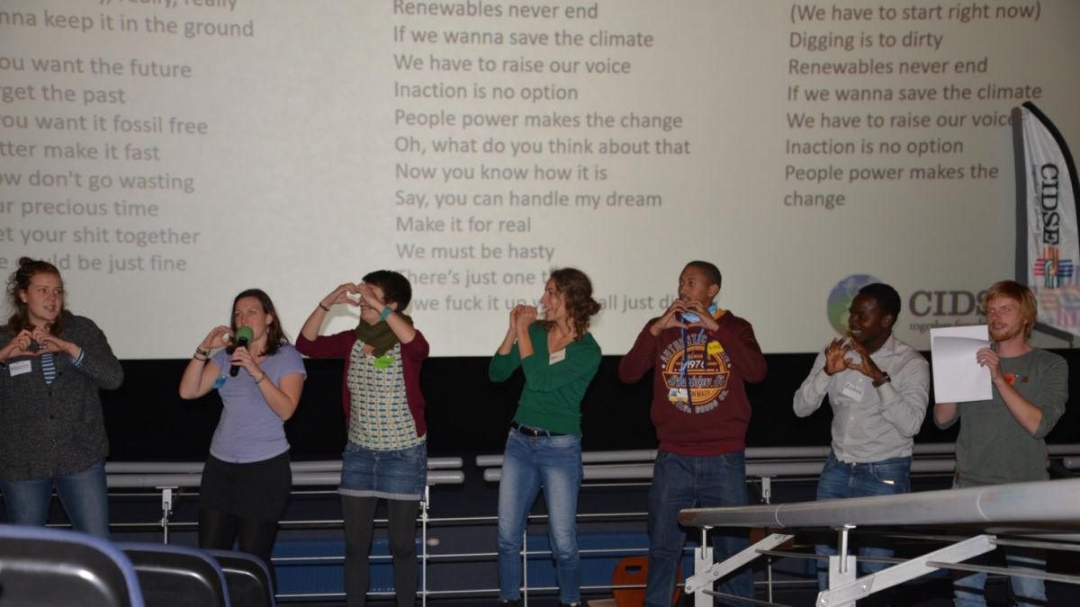Gemeinsames Singen auf der COP24