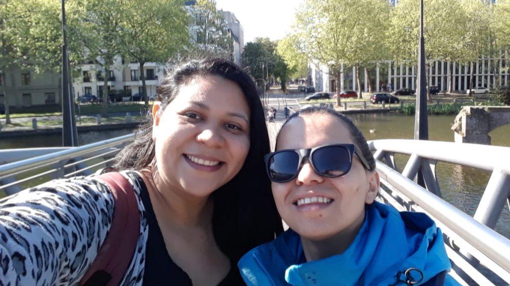 Maria aus Costa Rica und Mirna aus El Salvador sind beide als Freiwillige in diesem Jahr nach Deutschland gekommen, um bei der Caritas in Köln als Volunteers zu arbeiten