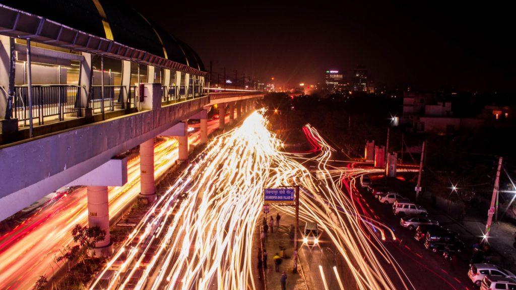 Delhi Gurgaon Verkehr