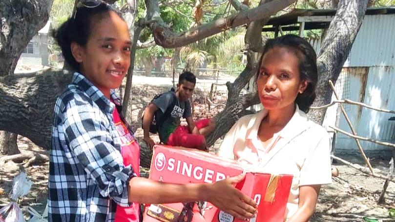 Isabela von der MISEREOR-Partnerorganisation CTID in Timor-Leste