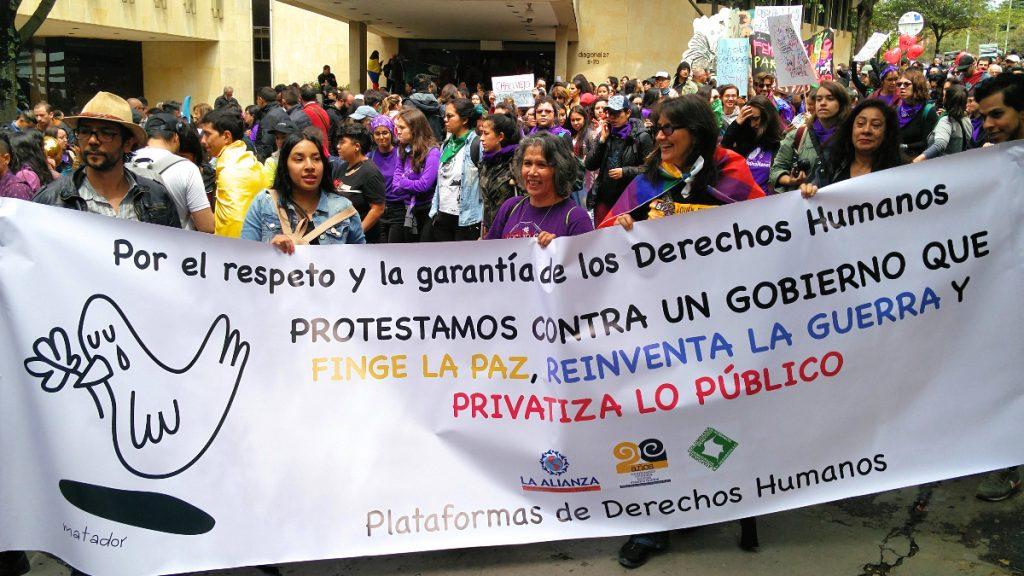 Menschenrechtsproteste Kolumbien