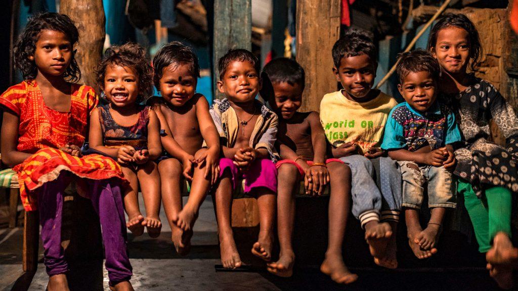 Kinder der Kondh Odisha Indien