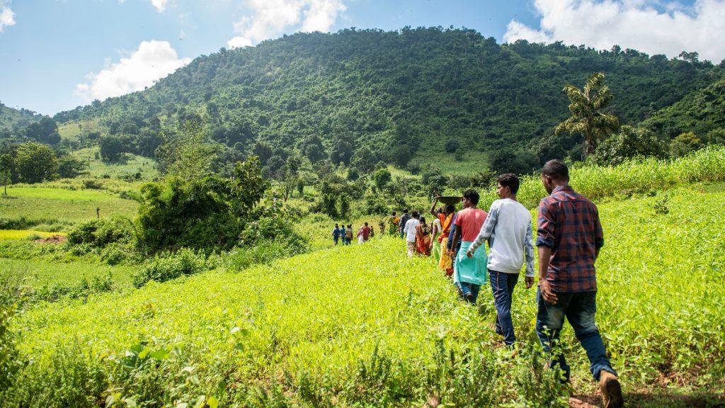 Jugendliche der Kondh in Odisha Indien