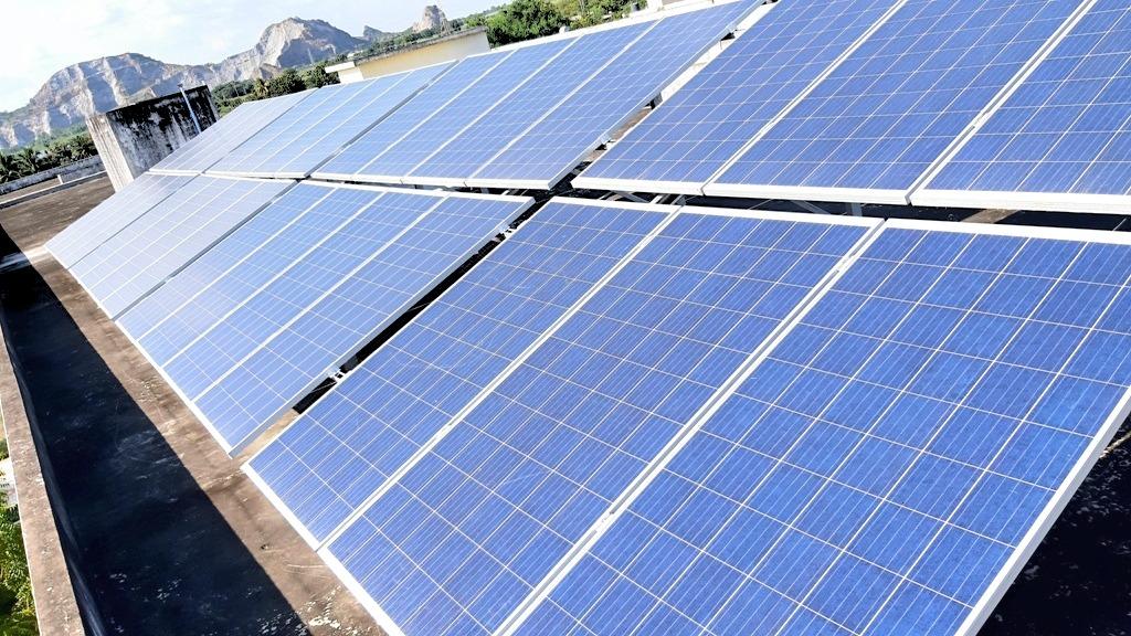 Solarpanel in Andhra Pradesh Indien