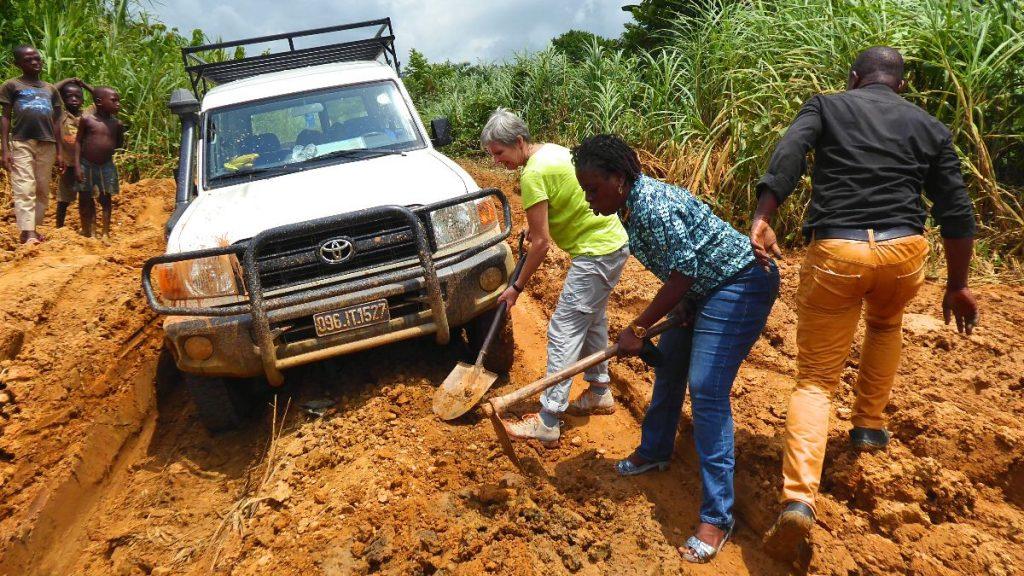 Feldbesuch Verbindungsstelle Kongo
