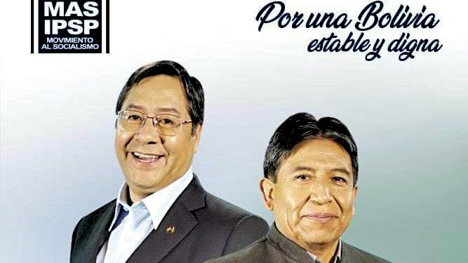 Wahlkampfposter (Ausschnitt) Bolivien 2020