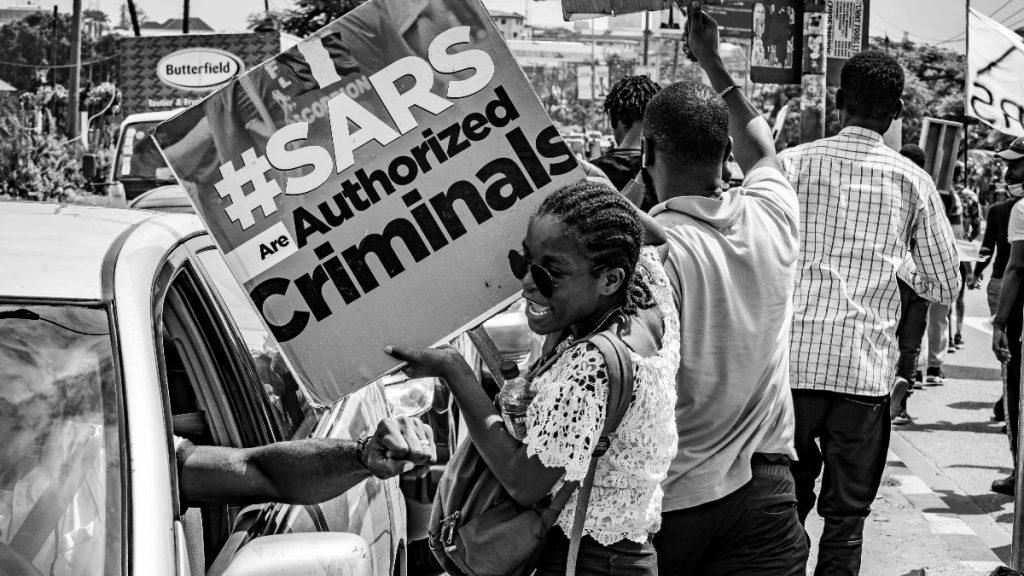 Proteste gegen SARS Polizeigewalt Nigeria