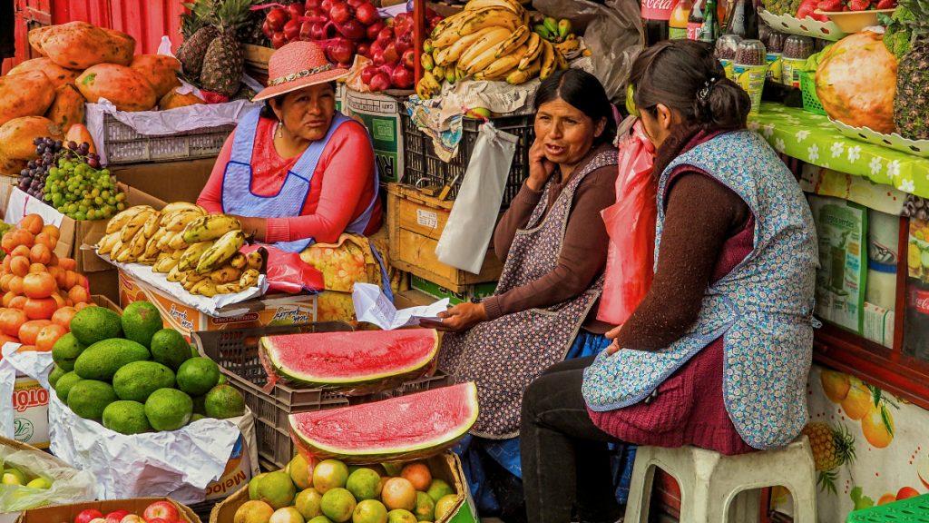Gemüsemarkt La Paz Bolivien