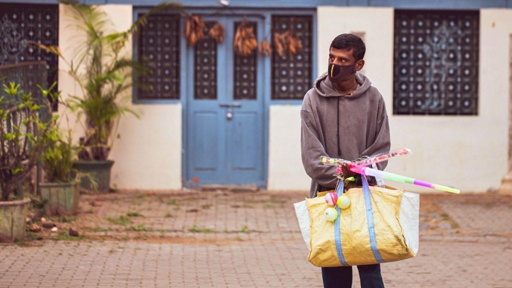 Straßenverkäufer Indien Corona