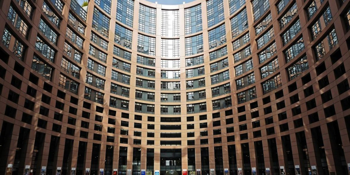 Europäisches Parlament Innenhof