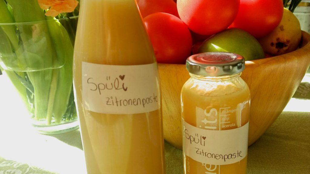 Spüli selbstgemacht Zitronenpaste zero waste