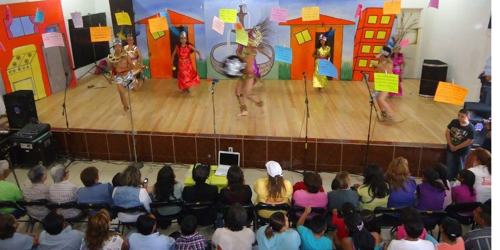 Tanzvorstellung mit Publikum