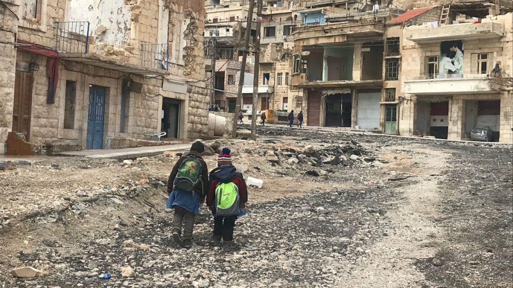 Syrien Krieg Zerstörung Kinder