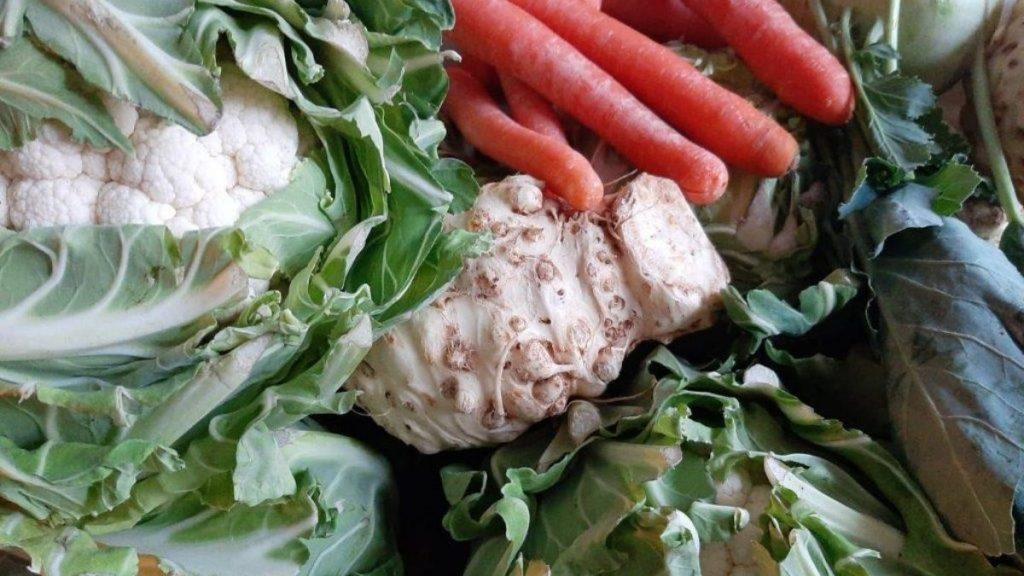 Gemüse für das Fastenessen