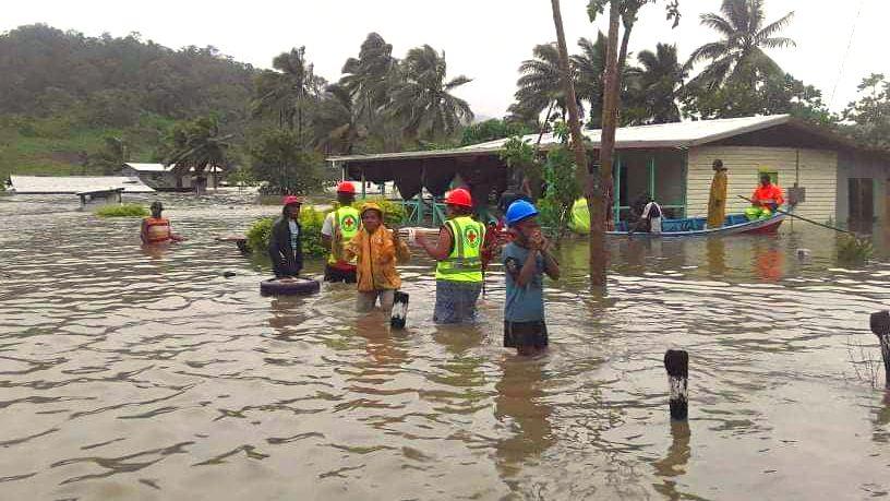 Zyklon Fidschi Rotes Kreuz Hilfe