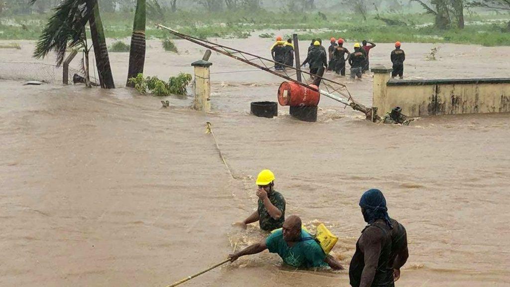 Fidschi Zyklone Yasa und Ana Überschwemmungen