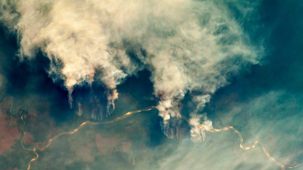 Rio Xingu Brasilien brennender Regenwald