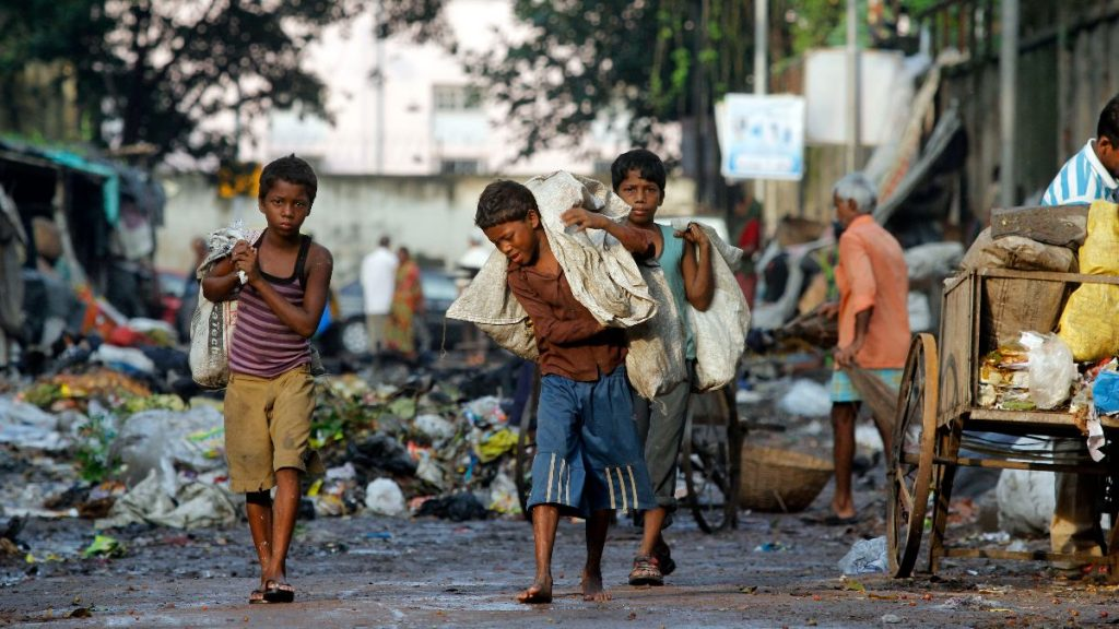 Indien Kinderarbeit Müllsammler