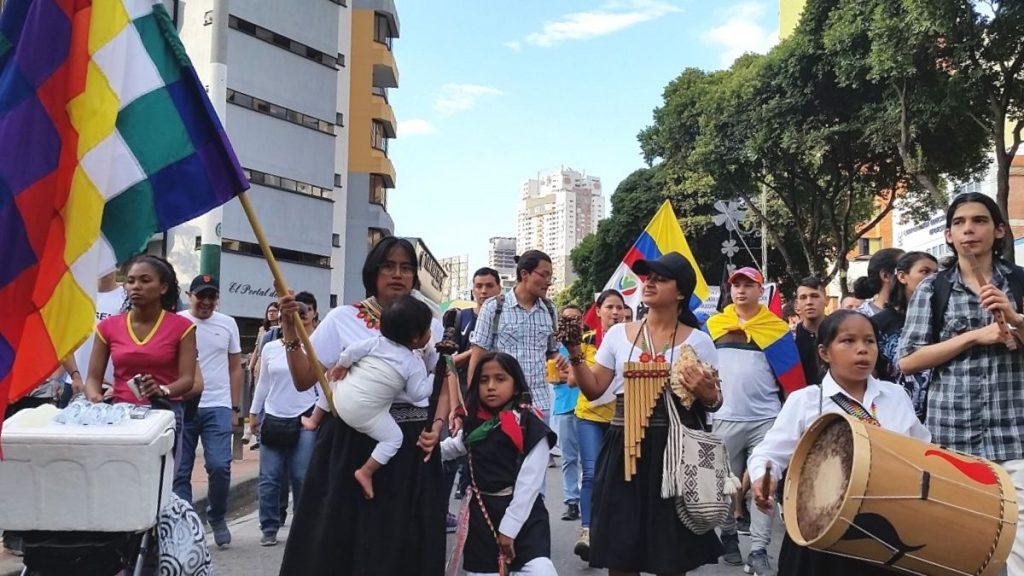Rechte der Natur Marsch 2019 Bucaramanga Kolumbien