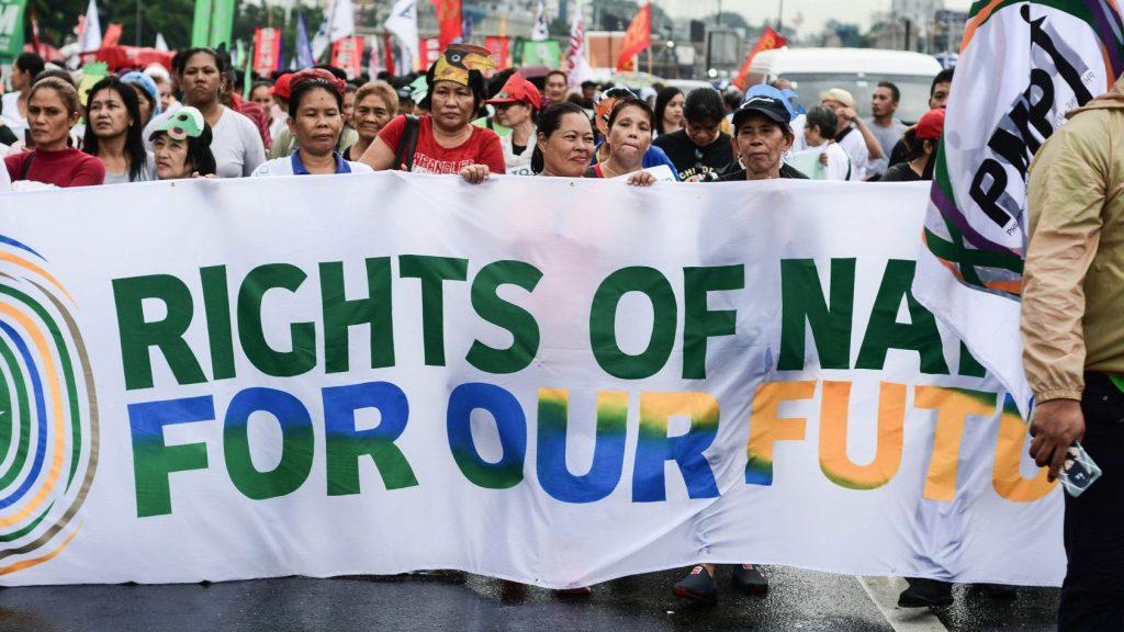 Rechte der Natur Demo PMPI Philippinen