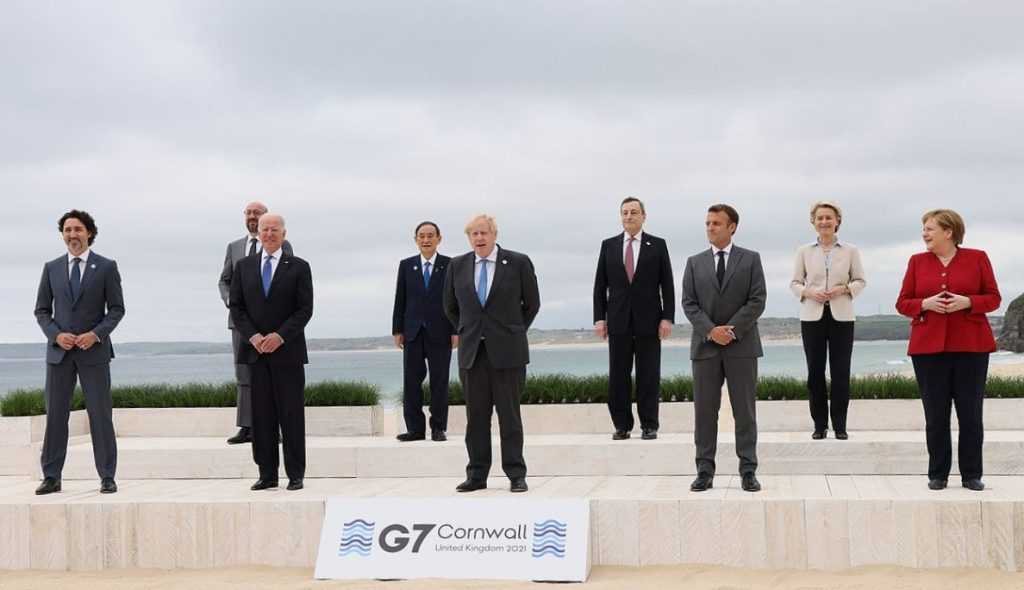 G7-Treffen 2021 in Cornwall UK